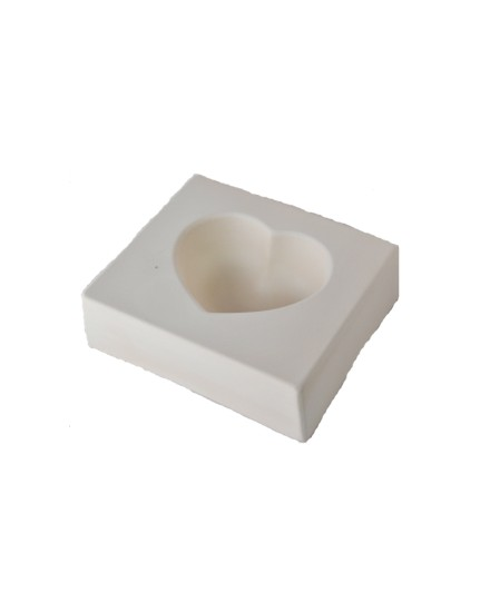 Casting mold Heart 7,6x8,2cm