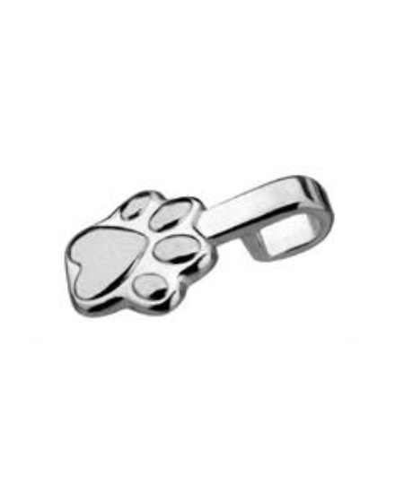 Bracked Paw Bails silver plated for pendants 5 PCS